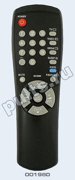 Пульт ДУ для телевизора Samsung. телевизор Samsung CS-1448R телевизор Samsung...  00198D был создан...