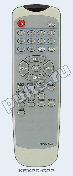 Rolsen (Ролсен) KEX2C-C22 - это пульт ДУ подходящий для некоторых телевизоров из серии C.