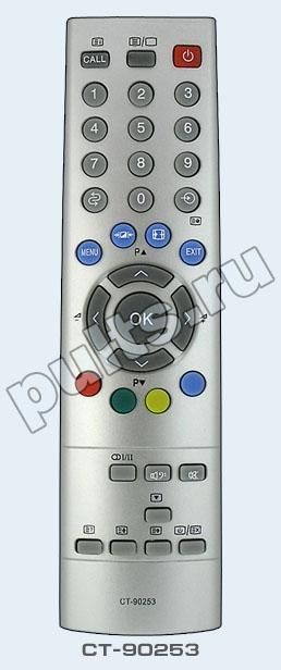 Пульт Toshiba CT-90253 :: Купить пульт ДУ в магазине пультов, пульты для телевизоров, ПДУ, пульт для медиаплеера