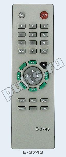 Пульт Erisson E-3743 является штатным ПДУ для целого ряда устройств. телевизор Erisson TV-2102 телевизор Erisson...